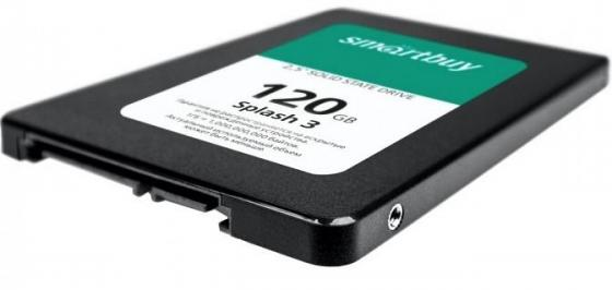 Твердотельный накопитель SSD 2.5 120GB Smartbuy Splash 3 Read 500Mb/s Write 380Mb/s SATAIII SB120GB-SPLH3-25SAT3 твердотельный накопитель ssd 2 5 120gb smartbuy ignition plus read 560mb s write 465mb s sata sb120gb ignp 25sat3