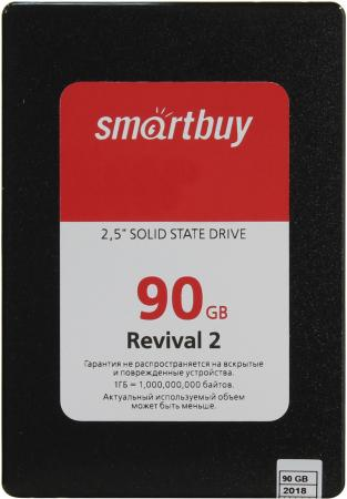 Твердотельный накопитель SSD 2.5 90 Gb Smart Buy Revival 2 Read 470Mb/s Write 360Mb/s 3D NAND TLC SB090GB-RVVL2-25SAT3 внутренний ssd накопитель 960gb smartbuy revival 3 sb960gb rvvl3 25sat3 sata3 2 5