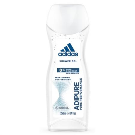 Гель для душа ADIDAS Adipureгель 250 мл 31669144000 парфюмерный набор adidas pure lightness парфюмерная вода 75 мл гель для душа 250 мл