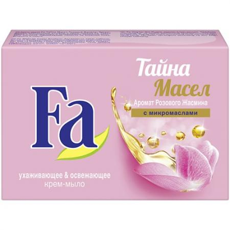 Мыло твердое Fa Тайна масел: Розовый жасмин 90 гр пена д ванны fa magic oil розовый жасмин 500мл