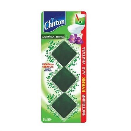 CHIRTON Чистящий кубик для унитаза Альпийская долина 3*50г pui hing 350mg 30 3