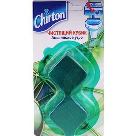 CHIRTON Чистящий кубик для унитаза Альпийское утро 50г*2 liaara чистящая таблетка для унитаза горная свежесть 2 50г