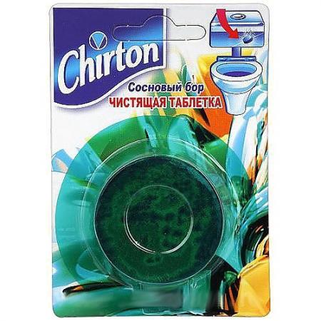 CHIRTON Чистящие Таблетки для унитаза Сосновый бор 50г гептордейли 30 таблетки