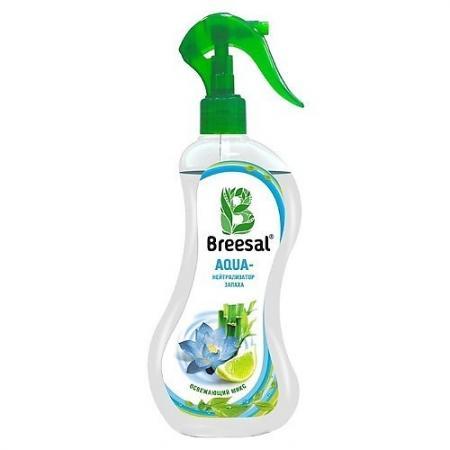 Breesal AQUA-нейтрализатор запаха Освежающий микс 375 мл био поглотитель запаха для холодильника breesal 80 г