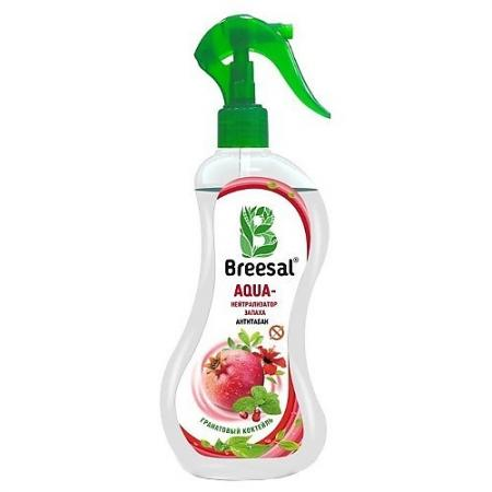 Breesal AQUA-нейтрализатор запаха Антитабак Гранатовый коктейль 375 мл био поглотитель запаха для холодильника breesal 80 г