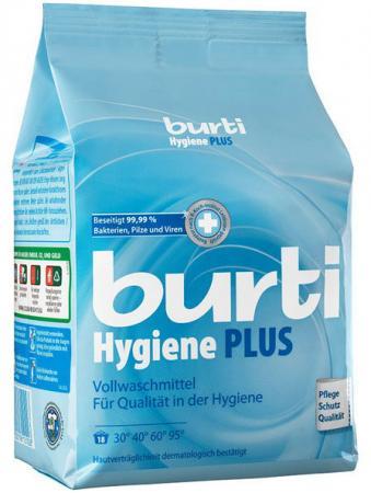 Стиральный порошок Burti Hygiene plus 1.1кг стиральный порошок сарма невская косметика 2400гр