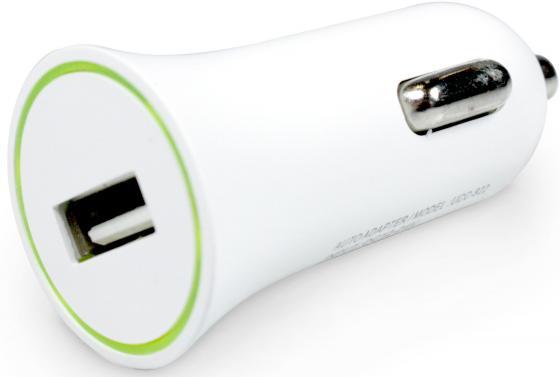 Автомобильное зарядное устройство Partner 1A USB 8-pin Lightning белый ПР033501 автомобильное зарядное устройство jet a uc i15 2 1a usb 8 pin lightning черный
