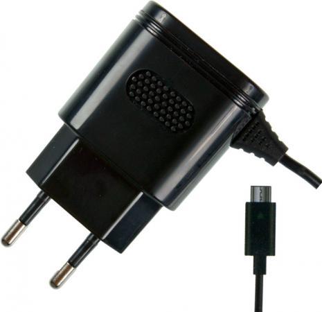 Сетевое зарядное устройство Partner 2.1A microUSB черный ПР032046 partner лягушка универсальное сетевое зу цвет белый черный