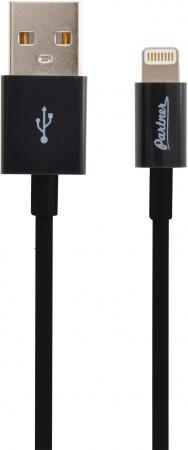 Кабель Lightning 1м Partner круглый ПР033375 кабель usb 2 0 samsung galaxy tab 1м partner