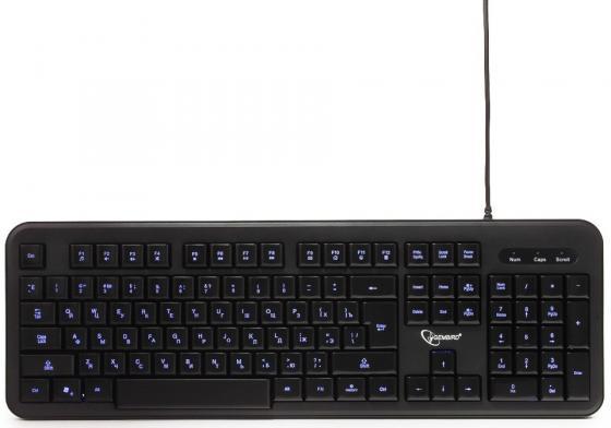 Клавиатура проводная Gembird KB-200L USB черный клавиатура проводная gembird kb 200l usb черный