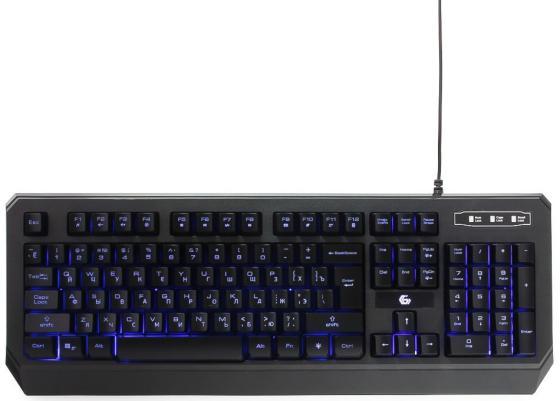 Клавиатура проводная Gembird KB-G20L USB черный клавиатура проводная gembird kb 200l usb черный