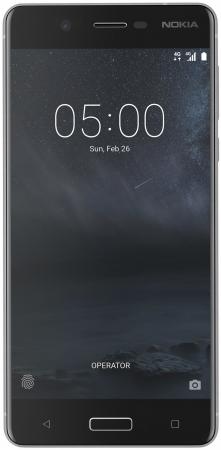Смартфон NOKIA 5 DS серебристый 5.2 16 Гб NFC LTE Wi-Fi GPS 3G 4G смартфон doogee x10 серебристый 5 8 гб wi fi gps 3g mco00055519