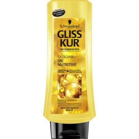 GLISS KUR Бальзам Oil Nutritive 400мл косметика для мамы gliss kur масло спрей термозащита oil nutritive 150 мл