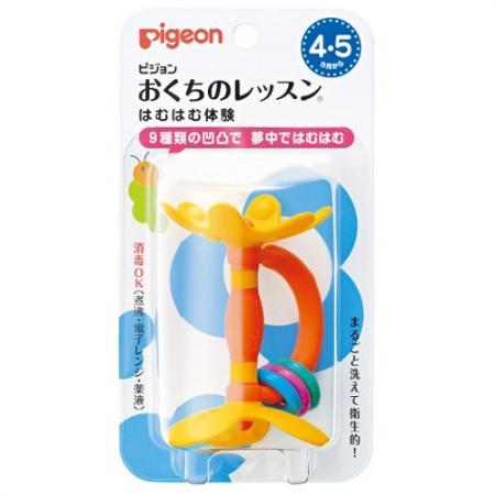 PIGEON Прорезыватель Step 1 4 мес. Цветок пиджен прорезыватель с 4 мес 131360