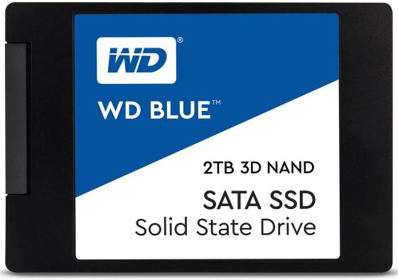 Твердотельный накопитель SSD 2.5 2Tb Western Digital Blue Read 560Mb/s Write 530Mb/s SATAIII WDS200T2B0A hantek pc 2ch digital oscilloscope hantek6082be 80mhz 250ms s usbxi interface