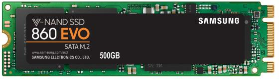 Твердотельный накопитель SSD M.2 500Gb Samsung 860 EVO Read 550Mb/s Write 520Mb/s SATAIII MZ-N6E500BW цена и фото