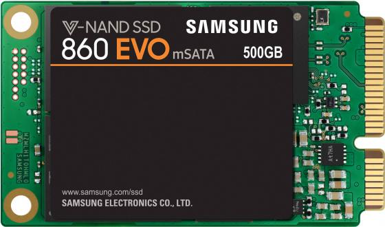 Твердотельный накопитель SSD mSATA 500Gb Samsung 860 EVO Read 550Mb/s Write 520Mb/s SATA III MZ-M6E500BW kingfast ssd 128gb sata iii 6gb s 2 5 inch solid state drive 7mm internal ssd 128 cache hard disk for laptop disktop