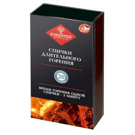 FORESTER Спички длительного горения 20шт печи отопительные дровяные длительного горения кемерово