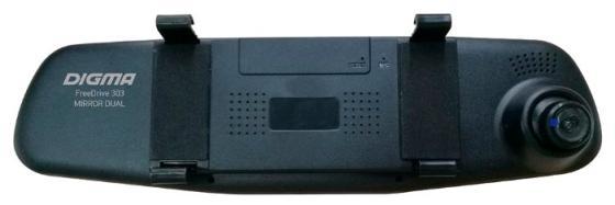 Видеорегистратор Digma FreeDrive 303 MIRROR DUAL 4.3 1920x1080 120° microSD microSDHC датчик движения USB черный видеорегистратор digma freedrive ojo black