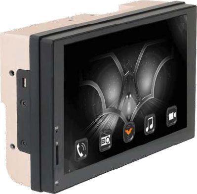 Автомагнитола Phantom DV-7014 7 1024х600 USB MP3 FM 2xDin 4x50Вт черный автомагнитола phantom dv 7014