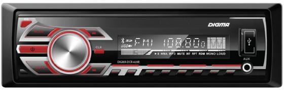 Автомагнитола Digma DCR-420R USB MP3 FM 1DIN 4x45Вт черный