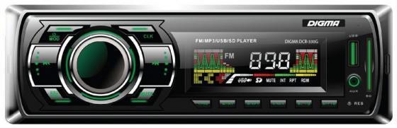 Автомагнитола Digma DCR-330G USB MP3 FM 1DIN 4x45Вт черный автомагнитола kenwood kmm 103ay usb mp3 fm 1din 4х50вт черный