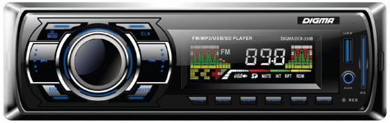 Автомагнитола Digma DCR-330B USB MP3 FM 1DIN 4x45Вт черный