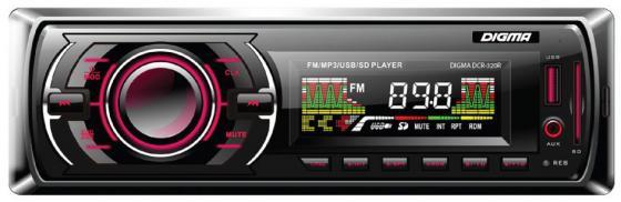 Фото Автомагнитола Digma DCR-320R USB MP3 FM 1DIN 4x45Вт черный сотовый телефон digma linx a177 2g
