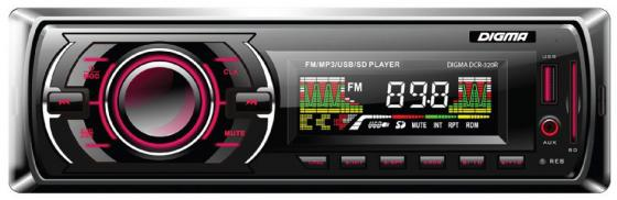 Автомагнитола Digma DCR-320R USB MP3 FM 1DIN 4x45Вт черный