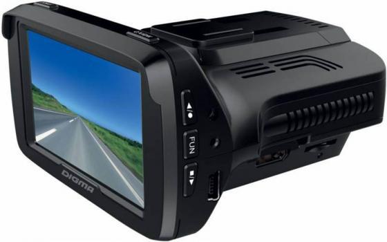 Купить Видеорегистратор Digma DCD-300 Combo 2.7 320x240 170° microSD microSDHC датчик движения с радар-детектором черный