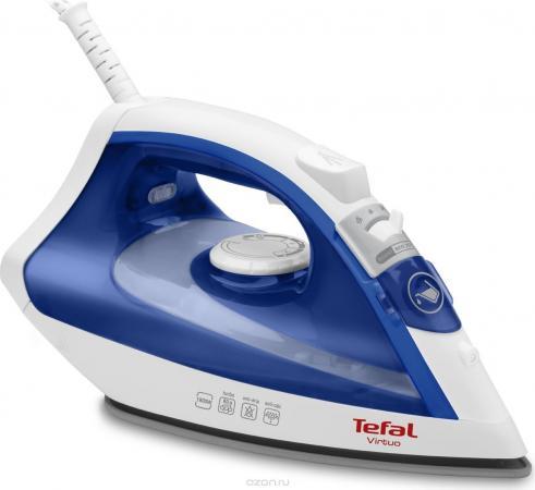 Утюг Tefal FV4950E0 2500Вт белый синий утюг tefal gv8977 2400вт белый синий