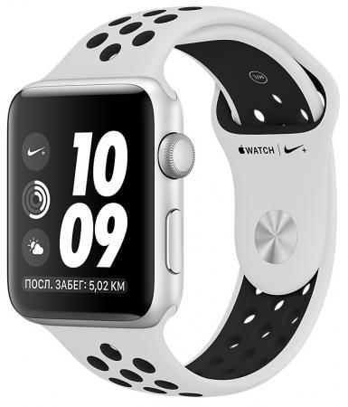 Смарт-часы Apple Watch Nike+ 38mm Silver Alu Black Nike sport