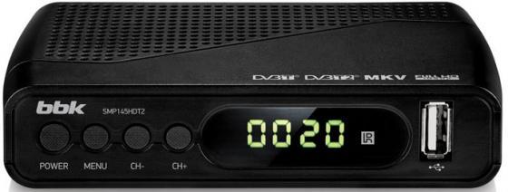 Тюнер цифровой DVB-T2 BBK SMP145HDT2 черный тюнер цифровой dvb t2 d color dc921hd hdmi usb черный