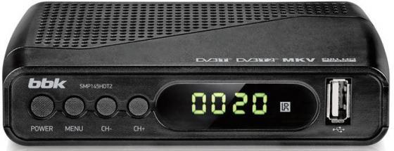 Тюнер цифровой DVB-T2 BBK SMP145HDT2 серый тюнер dvb t2 bbk smp145hdt2 black