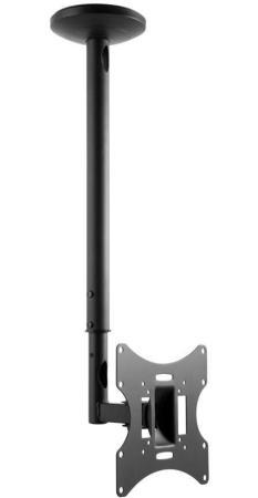 Фото - Кронштейн Ultramounts UM890 черный 23-42 потолочный поворот и наклон до 30кг карниз потолочный пластиковый dda поворот акант двухрядный серебро 2 8