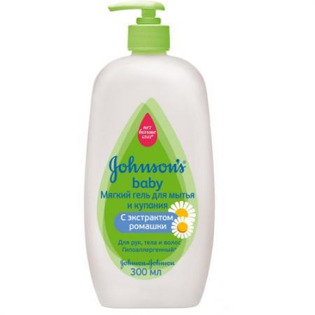 Johnsons Baby Детский мягкий гель для мытья и купания 300 мл johnsons baby для самых маленьких без отдушки 24 шт джонсонс бэби johnsons baby