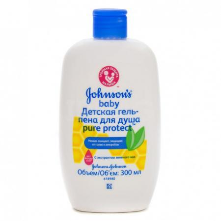 Johnsons baby Pure Protect Детская гель-пена для душа антибактериальная 300 мл гели и пенки johnson s baby pure protect для душа 300 мл