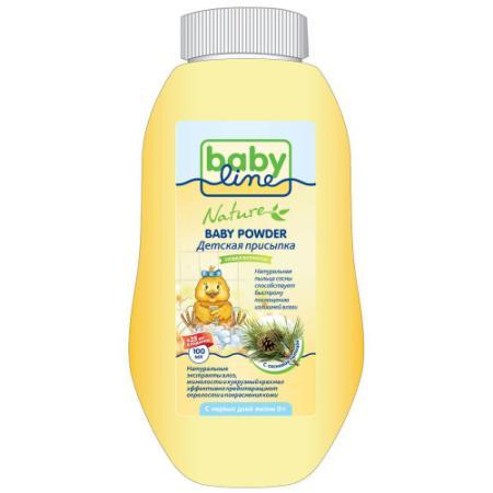 BABYLINE NATURE Детская присыпка с сосновой пыльцой 100г 25% в подарок babyline nature присыпка детская с оксидом цинка 125 г