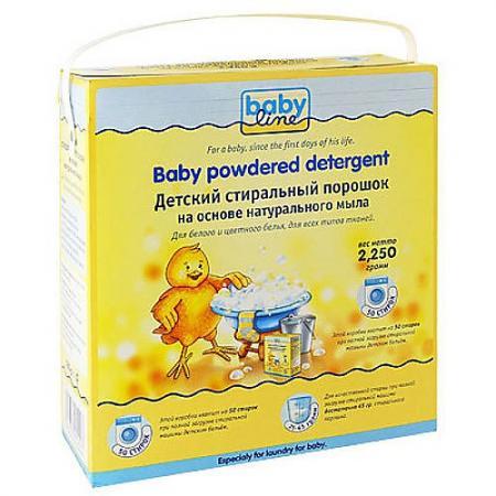BABYLINE Детский стиральный порошок на основе натурального мыла 2250гр babyline детский стиральный порошок концентрат 2 25 кг