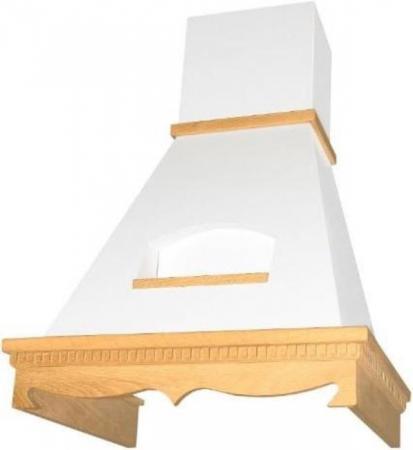 Вытяжка каминная Elikor 60П-650-П3Д бежевый/бук светло-коричневый цена и фото