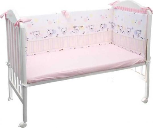 Бампер в кроватку Сонный Гномик Конфетти (розовый) бортики в кроватку сонный гномик считалочка