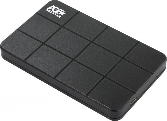 Внешний контейнер для HDD 2.5 SATA AgeStar 3UB2P1C USB3.0 черный внешний контейнер для hdd 2 5 sata agestar subcp1 usb2 0 черный