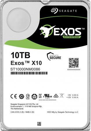 Жесткий диск для сервера 3.5 10Tb 7200rpm Seagate SATAIII ST10000NM0086 жесткий диск 3 5 10tb 7200rpm seagate sataiii st10000nm0016
