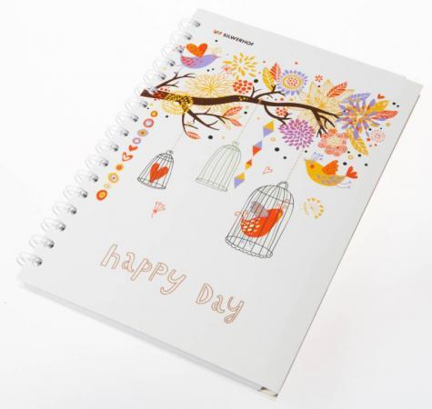Тетрадь общая Silwerhof Счастливый день 120 листов клетка гребень 812008-95