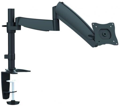 Кронштейн для мониторов Ultramounts UM 702 черный 13-27 настольный поворот и наклон верт.перемещ макс.9кг кронштейн для мониторов жк kromax office 11 черный 15 32 макс 10кг настольный поворот и наклон [20226]