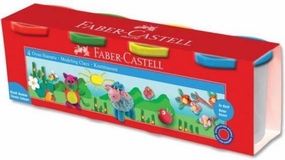 Масса для лепки Faber-Castell Масса для лепки 4 цвета всё для лепки angel clay масса для лепки мини ежик