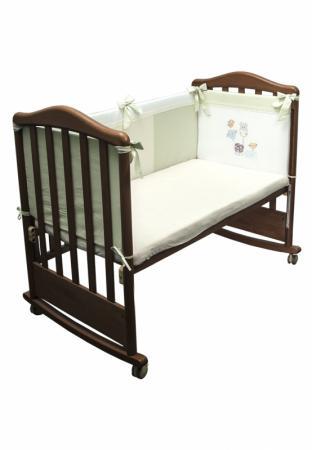 Бампер в кроватку Сонный Гномик Пикник (фисташковый) бортики в кроватку сонный гномик считалочка