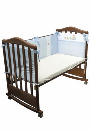 Бампер в кроватку Сонный Гномик Паровозик (голубой) комплекты в кроватку сонный гномик каникулы 7 предметов