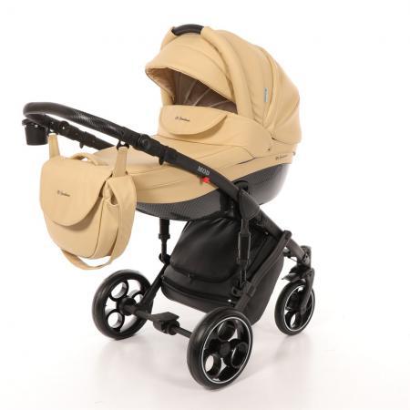 Коляска 2-в-1 Mr Sandman Mod (100% эко-кожа/бежевый/2) коляска mr sandman maestro 2 в 1 100% эко кожа персиковый kmsm100 073112