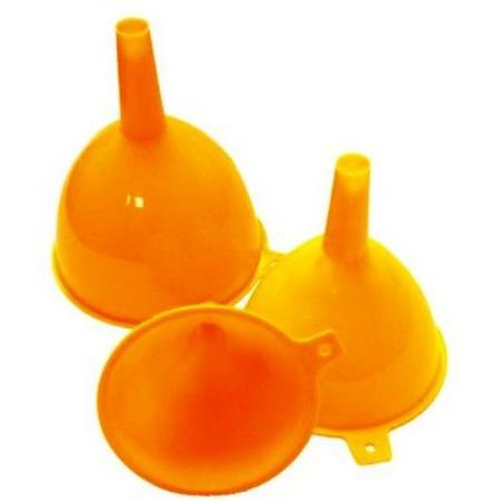 ХОЗЯЮШКА Мила Набор воронок для пищевых продуктов пластиковые 3 шт набор банок для пищевых продуктов цвет зеленый оранжевый бордовый 3 шт